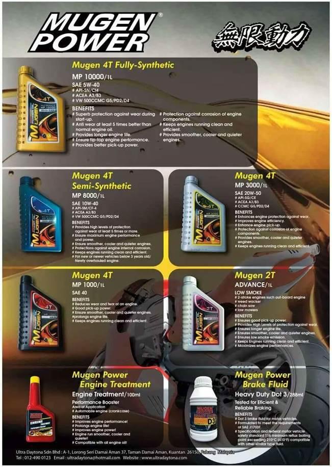 無限 | MUGEN Hi-Performance Oil & Fluid | MUGEN Hi